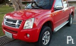 Isuzu dmax, 4x2, 2009 model, color red orig, 3.0 i-TEQ diesel engine, all stock,manual trans, well maintained update reg, complet legal docs