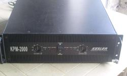 kessler kpm 2000 power amplifier for mobile and other commercial sound usage. eto ang specs ng amp wag na magtanong pa! Kesler KPM-2000 Professional Power Amplifier Good Condition. Stereo Power Amplifier (3U) 2X400w RMS 4Ohms 2X200w RMS 8Ohms Power