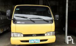 Kondisyon: Gamit na for sale KIA BONGO DOUBLE CAB from korea manual/diesel power steering/ power window newly painted unit/new seat cover cold aircon / function sterio no engine leak/ 3.0 engine very shine color/ not yet use in phil NOTE; accept financing