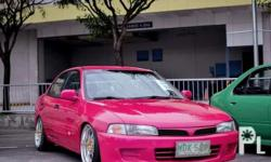 Mitsubishi lancer 1997  - 4g92 engine malaks pa hatak at tipid sa gas  - newly paint ( with 5 layer of glasscoat )  - Work meister mags chrome 17x9  - Sound set up ( straight c7 )  - Vip interior - Full adjustable coilssleeves