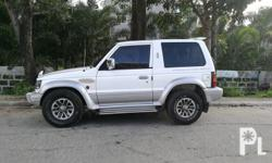 Manual PAJERO 3door Mitsubishi PAJERO 3door Imported unit Manual transmission 4x4 4d56 Diesel Engine Strong air-condition Intact interior Original paint Registered