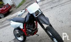 Gawin: Honda Modelo: Iba pa Mileage: 70,000 Kms Taon: 2003 Kondisyon: Gamit na Honda XR 200 registered motard oversized rims 4.25 rear 3.50 front UFO front and rear fender brand new swallow tires orig papers complete T4 exhaust pipe head turner and very