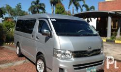 My Toyota Hiace GL Gandia Van 2011 model Manual transmission Diesel engine All power Central locking system Updated LTO registration Cool air con  81TKm Excellent condition, no issues Comes with 15 inches mags Not flooded