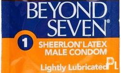 """BEYOND SEVEN CONDOM The closest thing to nothing at all Beyond Seven Condom Sheerlon Latex Male Condom, Lightly Lubricated. """"The Closest Thing to Nothing at all""""® Beyond Seven condoms are made of Super Thin Sheerlon®, an advanced material so strong and"""