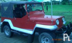 Gawin: Toyota Uri ng sasakyan: Iba pa Kondisyon: Gamit na Owner Type Jeep w/ 4k Engine Wrangler Type, Color Red Package with Brand New Spare Parts such as the Overhauling Gasket Kit, Piston Rings, Main Bearing, std., Connecting Rod Bearing std., Thrust