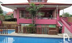 Resort Name: Pansol Playhouse Inclusions: 1) Unlimited swimming on our hot-spring pool 2) Unlimited Karaoke 3) With A/C rooms 4) With nipa hut bedrooms 5) With grilling area/cooking area Bedrooms: 4 Bathrooms: 3 **Please transact only with our