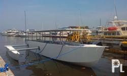 40ft Fiberglass Banca Posted Price not inclusive of Engine Price Engine Recommended: Inboard Marine or Automotive Marinized Engine Capacity: 35 passenger We customized boat to your design and need. We alos sell speedboats and fiberglass bancas 19ft to 23