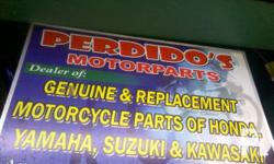 DEALER OF GENUINE AND REPLACEMENT MOTORCYCLE PARTS for: HONDA, YAMAHA, KAWASAKI, SUZUKI AND OTHERS  also offers: REPAIRS AND OTHER MAINTAINANCE SERVICES FOR YOUR MOTORCYCLES