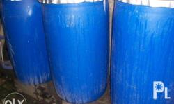 plastic drum with cover 200 liters 1200php each (1)pc place buhangin cabantian