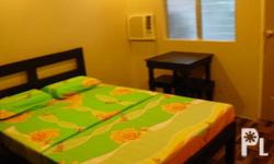 Furnished room for rent in center of Bacolod City. (accept transient and long term of stay) the room includes: bed that fit of 2persons, foam, pilows and bedsheets, aircon,tv, cabinet, table and chair, mirror, wallclock, own cr and mini kitchen, some room