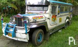 Description Condition: Used passenger jeepney for sale.. may linyang lipa-lemery ok ang rehistro BA-1 makina goodrunning condition