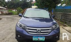Gawin: Honda Modelo: Iba pa Mileage: 4,000 Kms Taon: 2012 Kondisyon: Gamit na honda crv 2012 model Automatic Cebu area just bought last year 8 months used. 1.5m price...selling price 1.2m negotiable