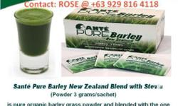 Expired ad. Please do not contact! What�s so good about Sante Pure Barley? BENEFITS What Sante Barley products can do: Powerful antioxidant Contains soluble and insoluble fiber for weight management Lowers blood pressure Reduces risk of Heart Disease