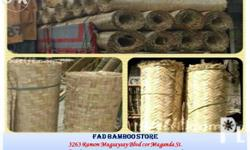 SAWALI FOR SALE: WOVEN BAMBOO MATTING FAD BAMBOO STORE Manila Office: 3263 Ramon Magsaysay Blvd. cor Maganda St. (beside LRT2 Pureza Station) Sta Mesa Manila, Philippines Tel: (02) 502.8320 | Mobile: 0917.896.2812 Sawali for sale (Woven Bamboo Plywood /