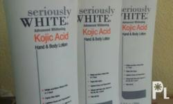 from the makers of Skinwhite, Biolink and Maxipeel - Splash Corp. Seriously White Advanced Whitening Kojic Acid Hand and Body Lotion 200ml - fights skin aging - for whiter and more vibrant skin - SPF 20 - with kojic acid, Vit. A, B3, B5, B6, C & E