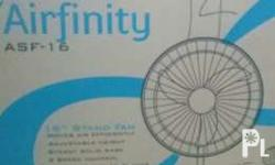 "Airfinity standfan 16"" Never been used W/ box Color blue Mall price 1,280"