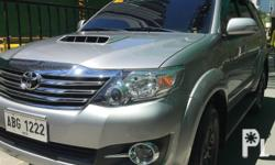 Toyota 2015 FORTUNER 4X2 2.5L G DSL AT with GPS for SALE With additional GPS installedWith additional feature: Car Reverse Rear view Backup CameraColor: Silver MetallicCasa Maintained (done detailed PMS last April only)Accessories and cleaning materials