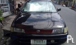 toyota corolla xl 92model 2e 12valve engine manual, 80%tires .nka led lights n good running condition .subok s long drive imus to baguio en imus to zambales, no blowby no usok no taga no wigle, intact un loob,naka lowerd n din. complete orig papers, issue