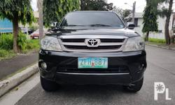 Toyota Fortuner 2006 G Gas Automatic Variant: 2.7 G Milage: 78,000 KM Transmission: Automatic Engine Condition: 10/10 Exterior Condition: 10/10 Interior Condition: 10/10 Tires: 80% Fuel: Gas 100% Flood free 100% Accident free  -All Original -Complete