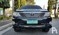 Toyota Fortuner 2013 G Automatic Diesel Variant: 2.5 G Milage: 40,000 KM Transmission: Automatic Engine Condition: 10/10 Exterior Condition: 10/10 Interior Condition: 10/10 Tires: 90% Fuel: Diesel 100% Flood free 100% Accident free  -All Original