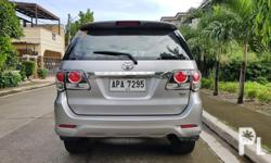 Toyota Fortuner 2015 G Automatic Diesel Well Maintained Transmission: Automatic Engine Condition: 10/10 Exterior Condition: 10/10 Interior Condition: 10/10 Tires: 90% Fuel: Diesel 100% Flood free 100% Accident free -All Original -Complete papers -Smooth