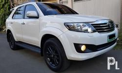 Toyota fortuner diesel  2012 fresh vs 2013 automatic 2.5 d4d turbo diesel engine 74,*** odo reading new bridgestone dueler tires 4pcs 1st owned Orig freedom white paint*zero dent Absolutely nothing to fix Complete legal papers