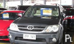 Toyota Fortuner G 2006 Year 1 km mileage 2.7L Engine Gas Fuel Automatic transmission 4x2 Aircon Airbags Power steering Electric windows Immobilizer Central lock Alarm CD+Mp3 audio system