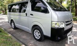 Toyota Hiace 2016 Year 40,000 km mileage 3.0L Engine Diesel Fuel Manual transmission Rear Wheel Drive Diesel engine  Manual transmission  Original paint Airbags Fog lamps Stereo 16mags  New tires Dual ac  Tinted windows Smooth paint  Clean interior  Not