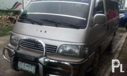 Hiace custom van 2003 model Matic(smooth shifting) Diesel 1KZ engine(walang usok/talsik) No overheat Verygood engine Orig paint Cold aircon Contact:Interested in this ad? You may inquire by clicking on any of the available contact buttons on this page.