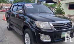 Toyota hilux 2012 model Manual trans. Diesel 4x2 Complete papers 1st owner New 4tires New change oil Loaded accs. No issue