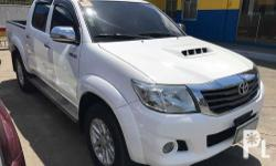Toyota Hilux G Manual Diesel 2013 Transformer Very shiny in actual! Very fresh interior! Very smooth ride No history of major collisions ( To see is to believe) Well-Maintained and duly serviced Lata paikot with engine warranty! For faster transaction