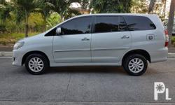 Toyota Innova 2014 G Diesel Transmission: Auto Engine Condition: 10/10 Exterior Condition: 10/10 Interior Condition: 10/10 Tires: 90% Fuel: Diesel 100% Flood free 100% Accident free -All Original -Complete papers -Smooth acceleration -Perfect shifting