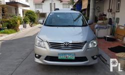 Toyota Innova 2.5G Diesel 2012 model 2013 acquired. Automatic tranny Fresh in and out 70+++ mileage Top of the Line next to V All power Cold aircon Good undetchasis 7-9 seaters Perfect for family Car SUV Wood panel Loaded Registered Complete papers. Ready