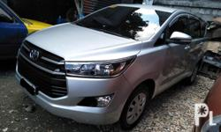 Toyota innova j 2017 Manual transmition Diesel All power Very presentable 2.8 engine  Fresh in and out Makinis Thick tires Gagamitin nalang Private use Fresh in and out Comprehensive insurance