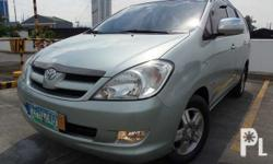 2008 Toyota Innova E G Look / Features MT Roof Rail Foglamps 2.5L D4D Diesel Fuel Efficient Engine 1st Owned  All Power SRS AIRBAG Fuel Efficient 3 Row Aircon Alloy Magwheels  3M Tint Rain Visor Chrome Trims  NEW TIRES ALL LEATHER INTERIOR  Automatic