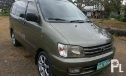 Gawin: Toyota Modelo: LiteAce Taon: 2006 Uri ng sasakyan: 4-door Kondisyon: Gamit na TOYOTA LITEACE ( NOAH ) ' 2006 * TOYOTA NOAH * 2.2 DIESEL ENGINE * 2006 YEAR MODEL * AUTOMATIC TRANSMISSION * 10 SEATERS * 17 INCHES MAGS * REGISTERED * CD STEREO * VERY