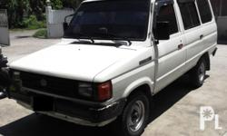 Gawin: Toyota Modelo: Tamaraw Taon: 1995 Uri ng sasakyan: 4-door Kondisyon: Gamit na For Sale Toyota tamaraw f.x Diesel Year model 1995 well maintained fresh in and out no history of over heat newly changed oil using Castrol Diesel Oil Synthetic Updated