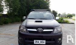 Toyota Toyota Hilux 4x4 A/T 2007 2007 Year 3.0L Engine Diesel Fuel Automatic transmission 4x4 Cloth interior Aircon Airbags Power steering Electric windows Central lock Alarm CD+Mp3 audio system