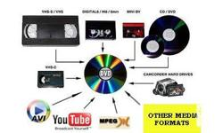Deskripsiyon We Convert Mini dv, VHs, Hi8, V8, Betamax Cassette Tapes TO VCD or DVD To Vcd = 100-150/cd To DVD = 150-350/dvd betamax-vcd = 250 betamax (ntsc)- dvd = 500 betamax (pal/secam) - dvd =700 We also offer non linear video editing.... 250/hour