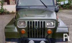 Wrangler Jeep D4BF Diesel Engine Mitsubishi Diesel Engine Power Steering Manual Transmission 31x10.5x15 size ng gulong Big Thick Tires Good running condition Malakas sa ahon Well tested to long drives No overheat record 1st owner 8 seater Newly registered