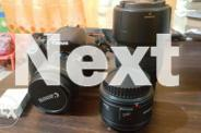 Canon DSLR 650D with Free lenses and battery