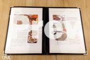 Transparent cover menu book with 1234681012 pages Menu