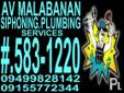 A.V MALABANAN SIPHONING / PLUMBING SERVICES ETC. LOOK