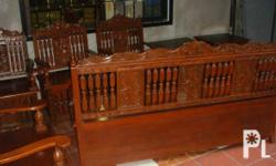 Deskripsiyon 100% Narra Furniture Set 8pcs Sala Set: