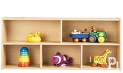 Happy Kiddos - # 102 Shelf with divider - wood Shipping