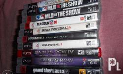I have for sale 10 adult owned PS3 games. These games