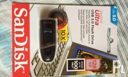 Selling Sandisk USB Flash Drive 128Gb Brand New Sealed