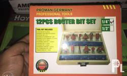 """12pcs router bits Size 1/2"""" and 1/4"""" Proman and hoyoma"""