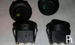 Selling 12v Rocker Switches On/Off with LED. Colors