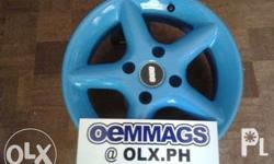 15'' x 4H x PCD 114.3 Racing Blue Price... P14,000/ set